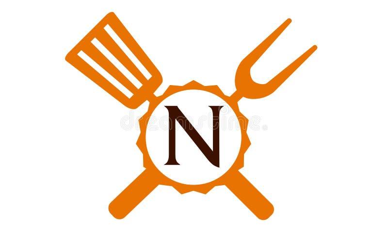 Γράμμα Ν εστιατορίων λογότυπων απεικόνιση αποθεμάτων