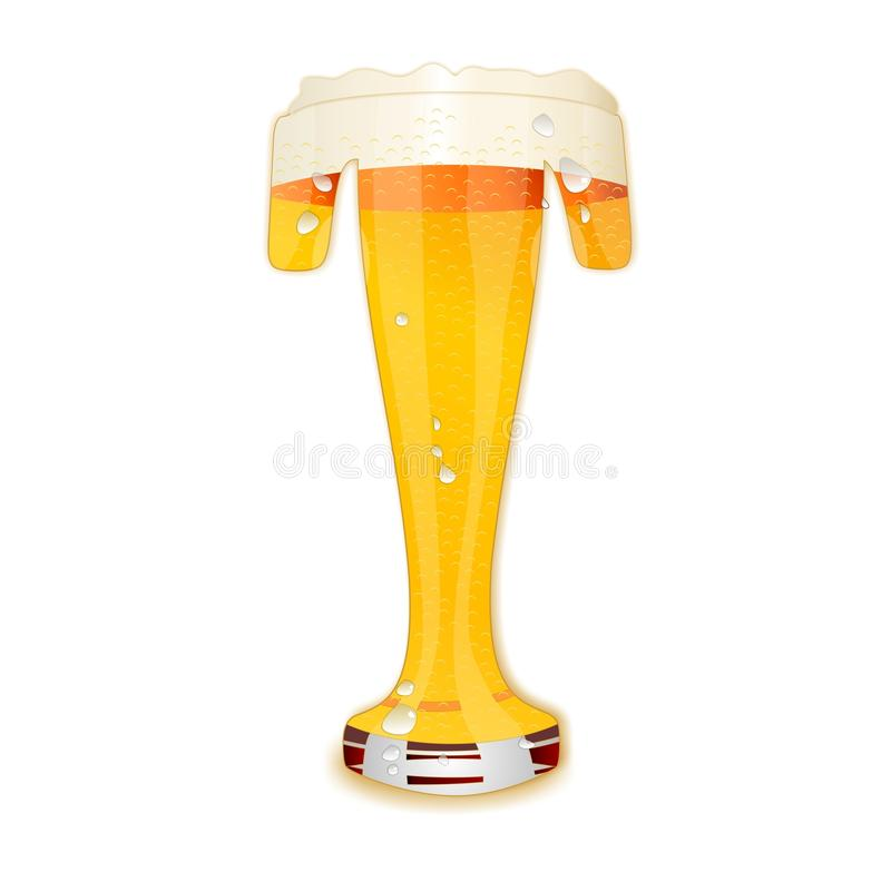 Γράμμα Τ αλφάβητου μπύρας ελεύθερη απεικόνιση δικαιώματος