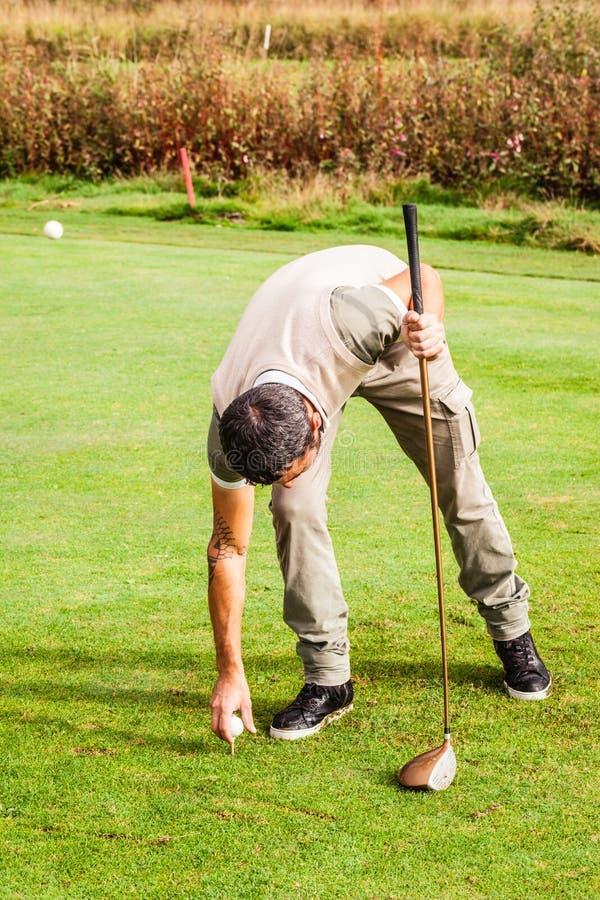 γράμμα Τ γκολφ λεσχών σφαιρών στοκ εικόνες με δικαίωμα ελεύθερης χρήσης