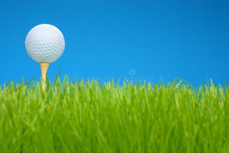 γράμμα Τ χλόης γκολφ πεδίων σφαιρών στοκ εικόνες