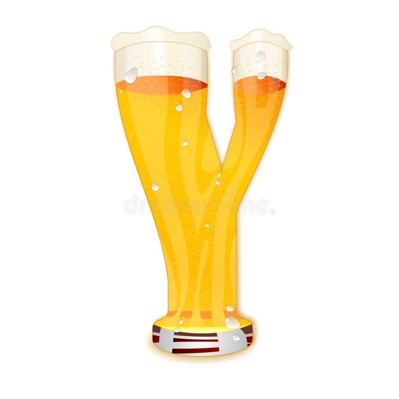 Γράμμα Υ αλφάβητου μπύρας ελεύθερη απεικόνιση δικαιώματος