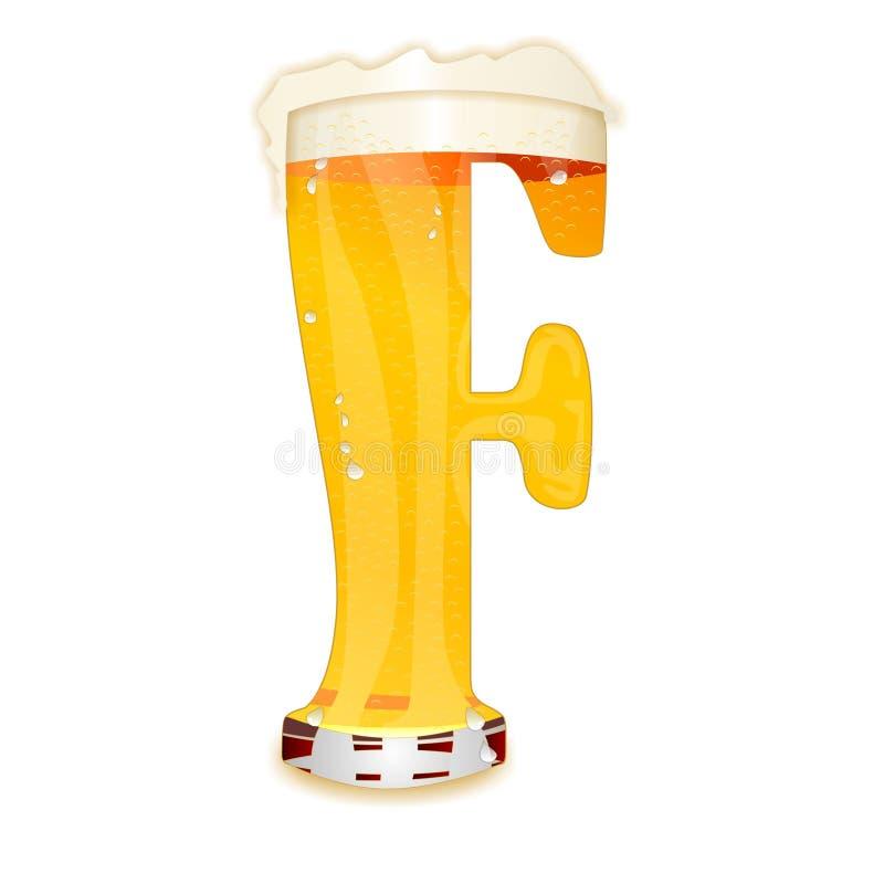 Γράμμα Φ αλφάβητου μπύρας διανυσματική απεικόνιση
