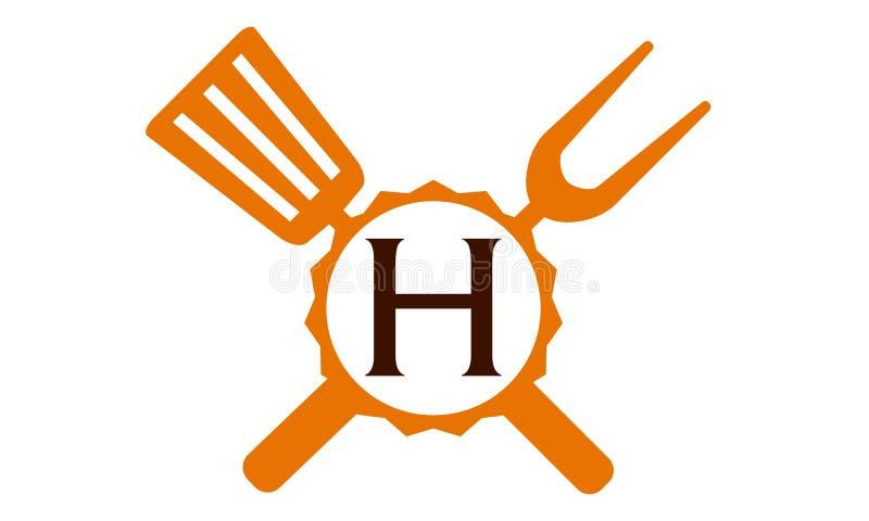 Γράμμα Χ εστιατορίων λογότυπων ελεύθερη απεικόνιση δικαιώματος