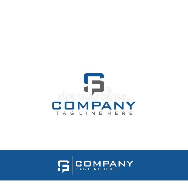 Γράμμα S και λογότυπο Φ διανυσματική απεικόνιση