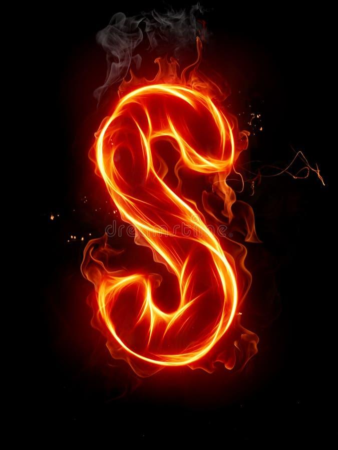 γράμμα s πυρκαγιάς διανυσματική απεικόνιση