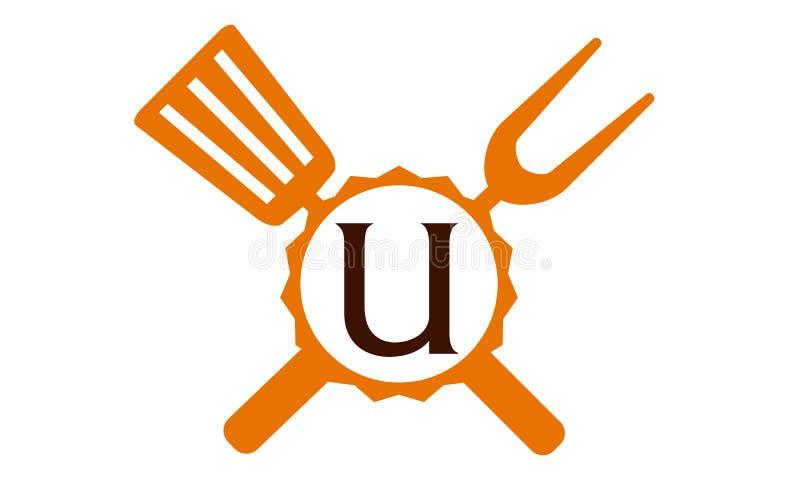 Γράμμα U εστιατορίων λογότυπων απεικόνιση αποθεμάτων