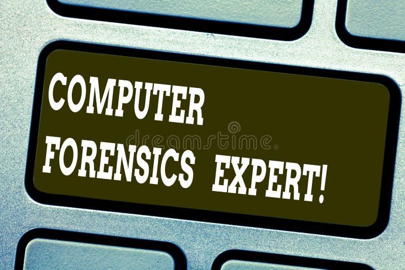 Γράφοντας εμπειρογνώμονας ιατροδικαστικών υπολογιστών κειμένων λέξης Επιχειρησιακή έννοια για τη συγκομιδή και την ανάλυση των στ διανυσματική απεικόνιση