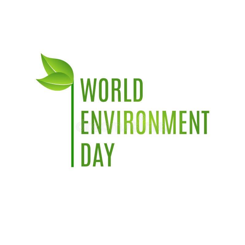 Γράφοντας κάρτα χεριών ημέρας παγκόσμιου περιβάλλοντος στο θολωμένο υπόβαθρο επίσης corel σύρετε το διάνυσμα απεικόνισης ελεύθερη απεικόνιση δικαιώματος