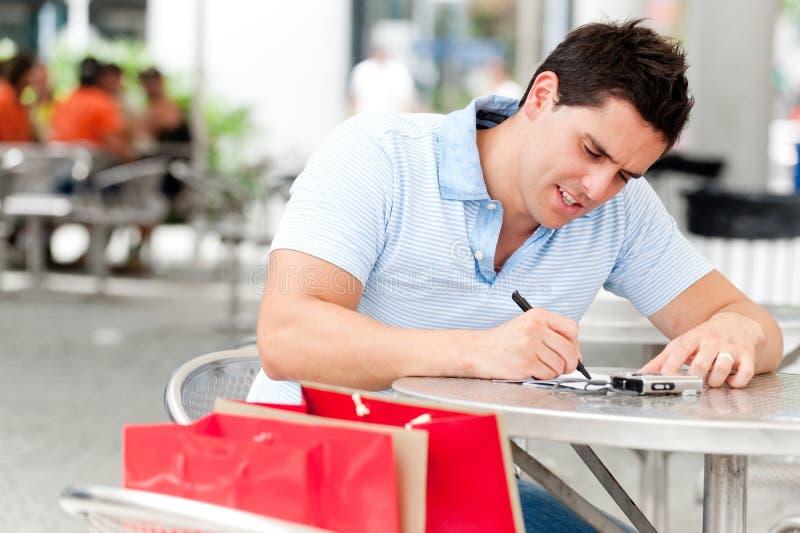 Γράφοντας κάρτα στοκ εικόνα