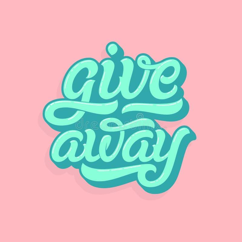 Γράφοντας λογότυπο Giveaway στα μαλακά χρώματα Punchy ύφος κρητιδογραφιών Διανυσματική τυπογραφία για το σχέδιο τυπωμένων υλών, ε ελεύθερη απεικόνιση δικαιώματος