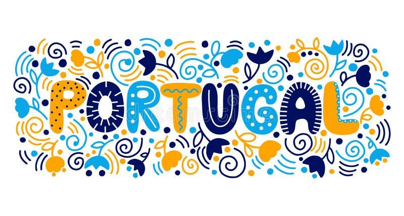 Γράφοντας Πορτογαλία επίσης corel σύρετε το διάνυσμα απεικόνισης ελεύθερη απεικόνιση δικαιώματος