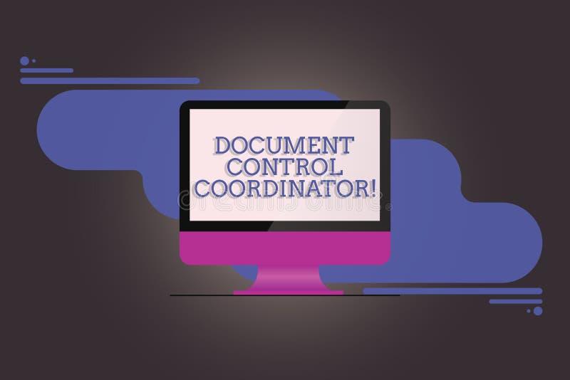 Γράφοντας συντονιστής ελέγχου εγγράφων κειμένων γραφής Έννοια που σημαίνει και που ελέγχει τα έγγραφα επιχείρησης διανυσματική απεικόνιση