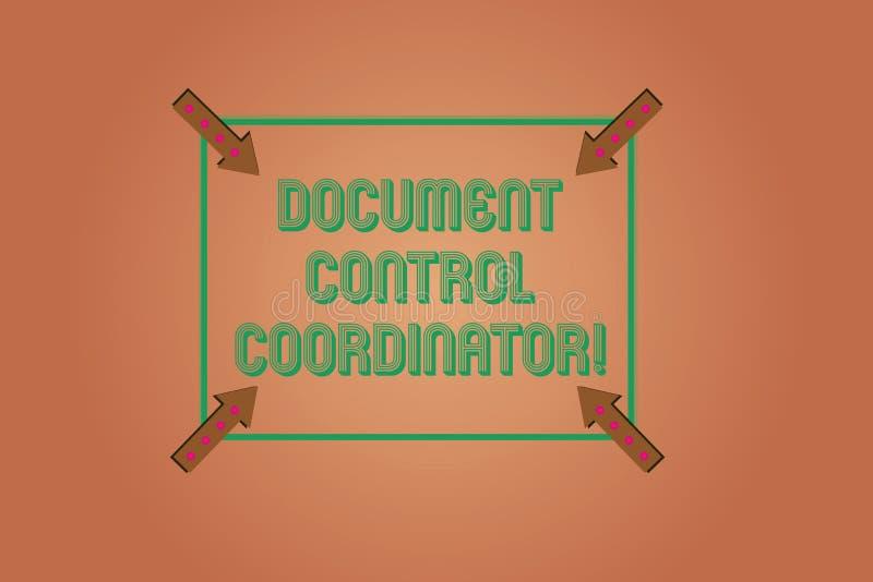 Γράφοντας συντονιστής ελέγχου εγγράφων κειμένων γραφής Έννοια που σημαίνει και που ελέγχει τα έγγραφα επιχείρησης ελεύθερη απεικόνιση δικαιώματος