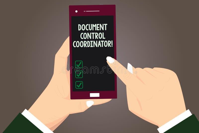 Γράφοντας συντονιστής ελέγχου εγγράφων κειμένων λέξης Επιχειρησιακή έννοια για και ελέγχου τα έγγραφα HU επιχείρησης ελεύθερη απεικόνιση δικαιώματος