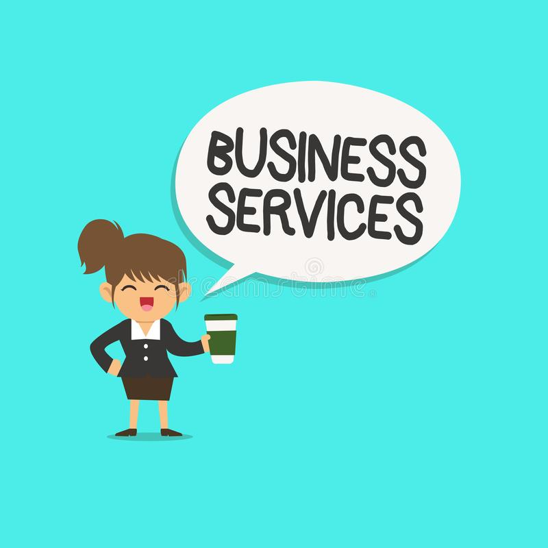Γράφοντας υπηρεσίες επιχείρησης κειμένων λέξης Η επιχειρησιακή έννοια για παρέχει την άυλη λογιστική ΤΠ λογιστικής προϊόντων απεικόνιση αποθεμάτων
