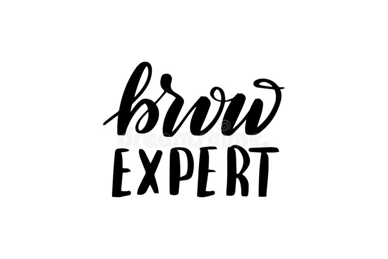 Γράφοντας brow εμπειρογνώμονας βουρτσών ελεύθερη απεικόνιση δικαιώματος