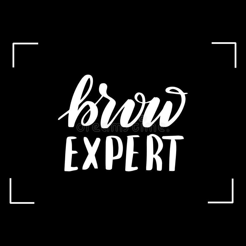 Γράφοντας brow εμπειρογνώμονας διανυσματική απεικόνιση