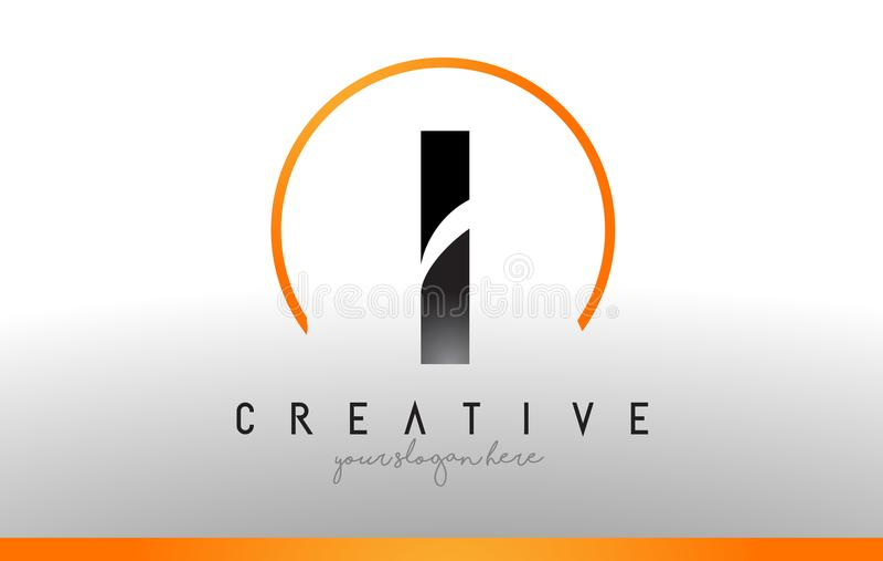 Γράφω το λογότυπο σχεδιάζω με το μαύρο πορτοκαλί χρώμα Δροσερό σύγχρονο εικονίδιο Τ απεικόνιση αποθεμάτων