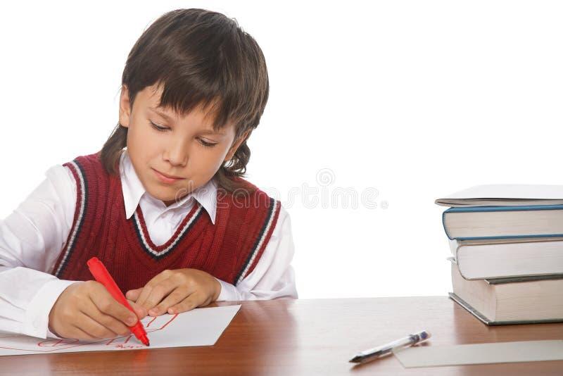 γράψιμο αγοριών στοκ φωτογραφία