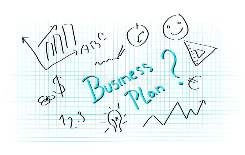 Γράψιμο επιχειρηματικών σχεδίων διανυσματική απεικόνιση