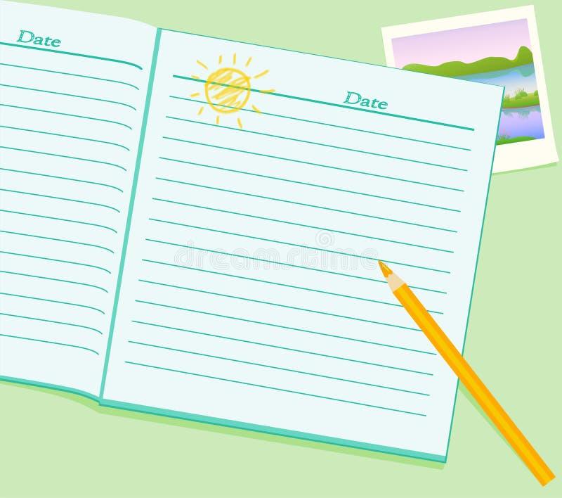 γράψιμο ημερολογίων ελεύθερη απεικόνιση δικαιώματος
