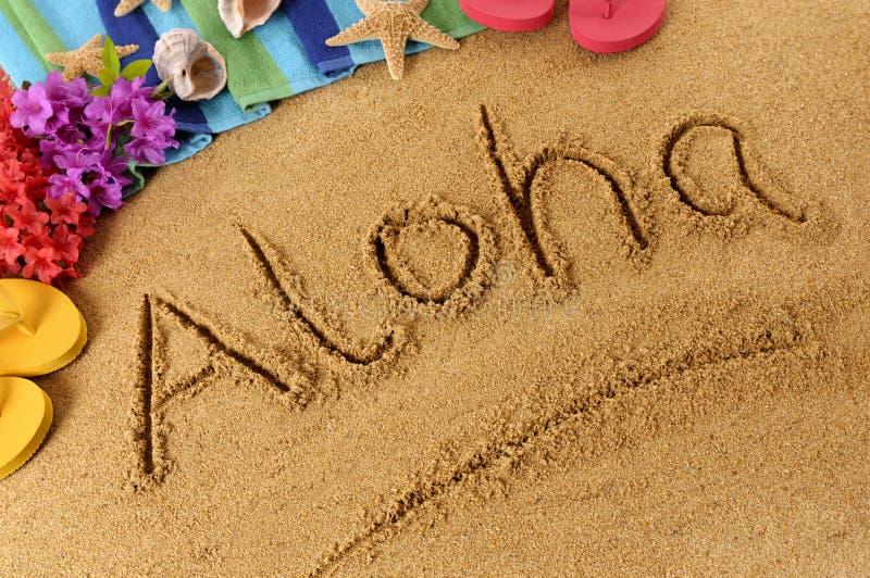 Γράψιμο παραλιών Aloha στοκ εικόνες