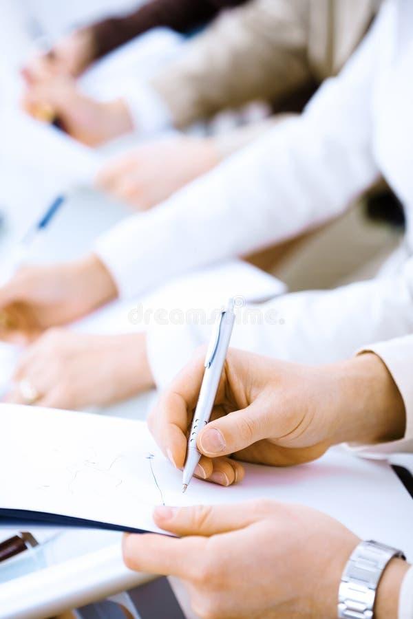 γράψιμο σημειώσεων στοκ εικόνα