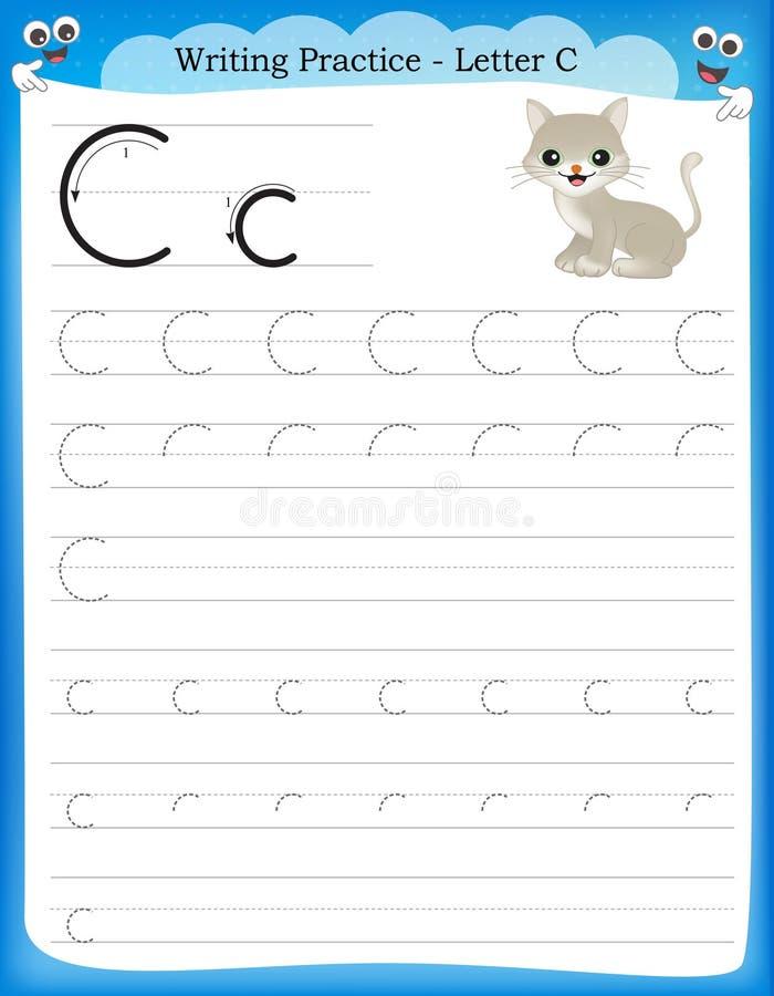 Γράψιμο του γράμματος Γ πρακτικής διανυσματική απεικόνιση