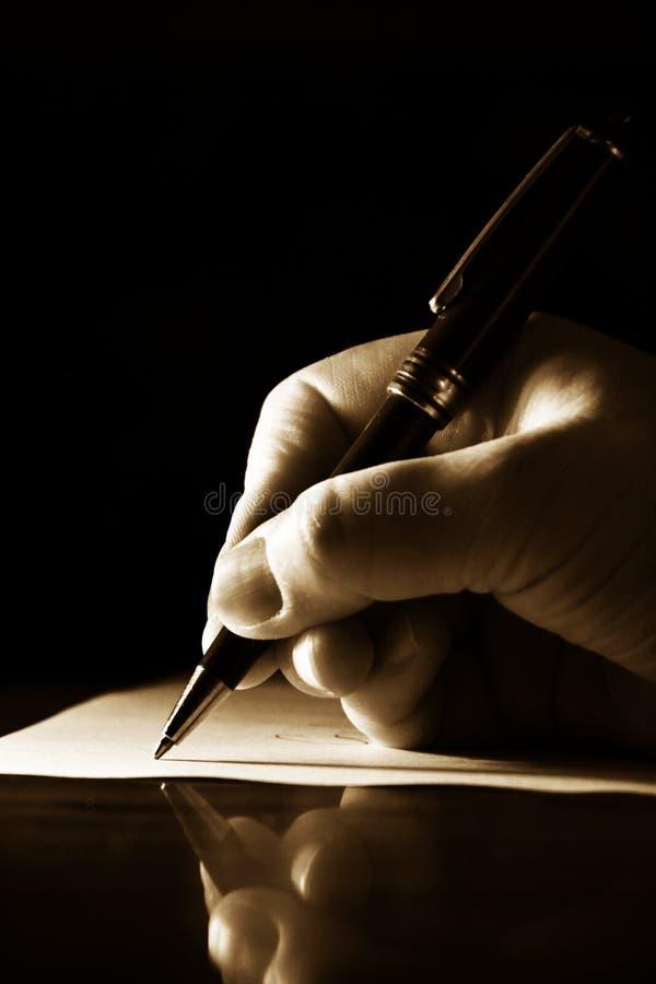 γράψιμο στοκ εικόνα