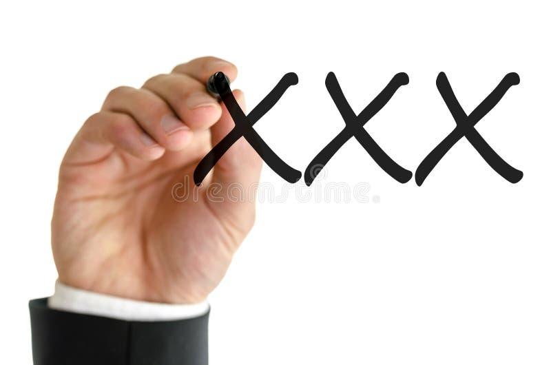 Γράψιμο XXX στοκ εικόνες με δικαίωμα ελεύθερης χρήσης