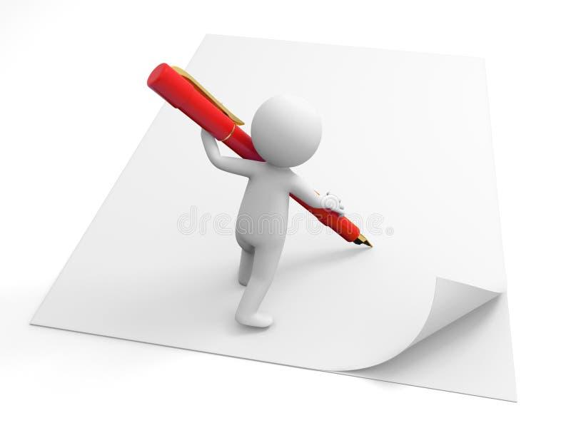 Γράψτε σε χαρτί ελεύθερη απεικόνιση δικαιώματος