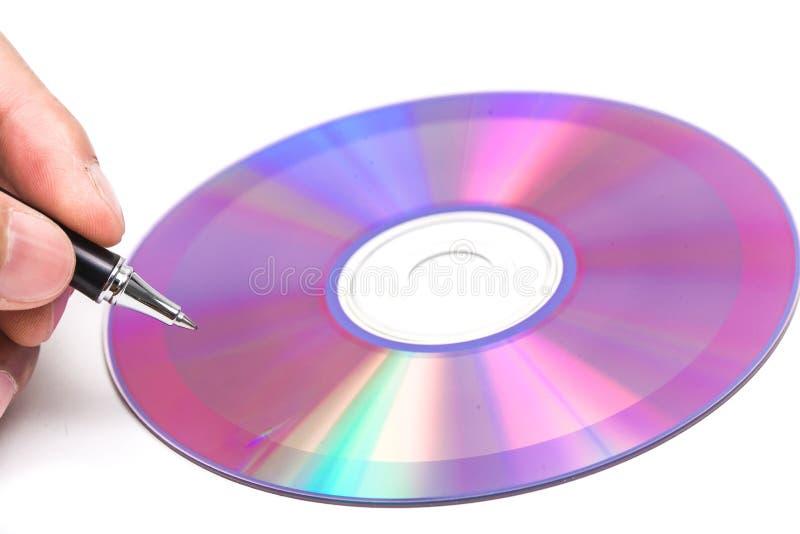 Γράψτε τα στοιχεία στο σκληρό δίσκο. στοκ φωτογραφίες