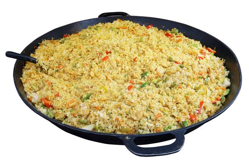 Γρήγορα τρόφιμα οδών - χορτοφάγος pilaf με τα λαχανικά και το κάρρυ SP στοκ εικόνα με δικαίωμα ελεύθερης χρήσης