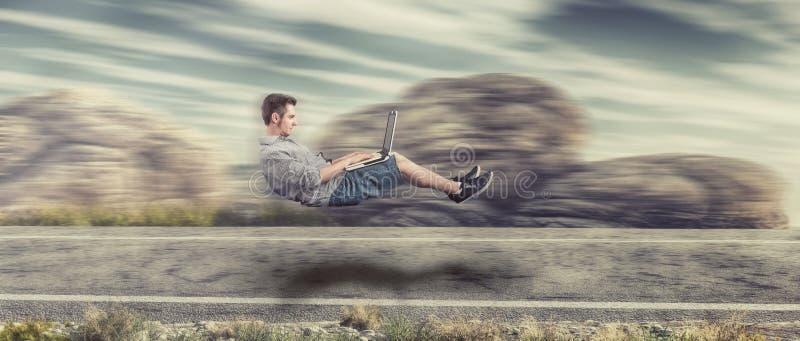 Γρήγορα levitating άτομο στοκ φωτογραφία με δικαίωμα ελεύθερης χρήσης