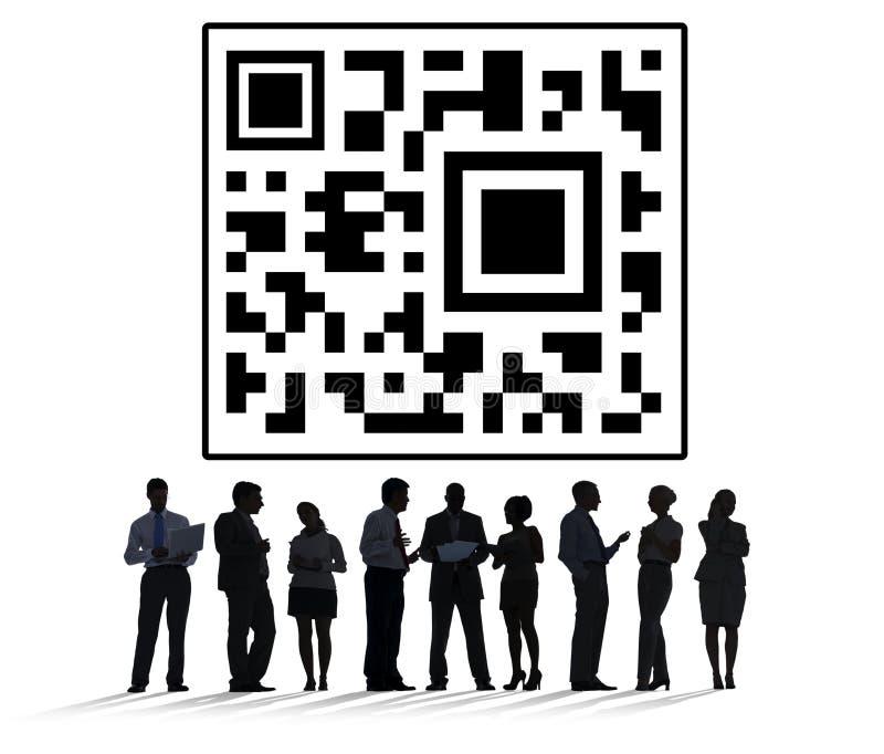 Γρήγορη έννοια τιμών ψηφιακών στοιχείων κώδικα απάντησης στοκ εικόνα με δικαίωμα ελεύθερης χρήσης