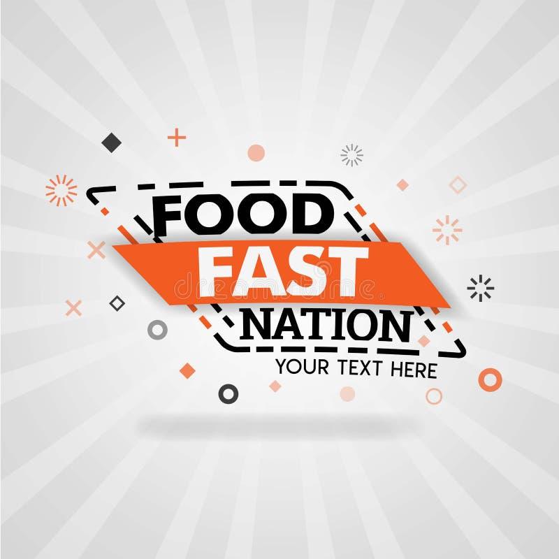 Γρήγορη επιχείρηση έθνους τροφίμων με ένα δίκτυο των εστιατορίων και των διάφορων αγαπημένων συνταγών ελεύθερη απεικόνιση δικαιώματος