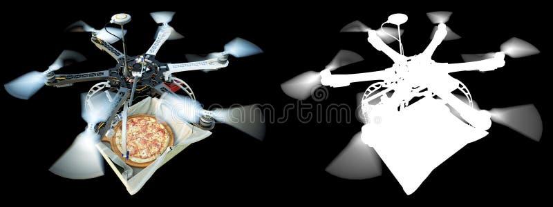 Γρήγορη παράδοση με τη φωτογραφία έννοιας νέας τεχνολογίας με τον άλφα στοκ εικόνες με δικαίωμα ελεύθερης χρήσης