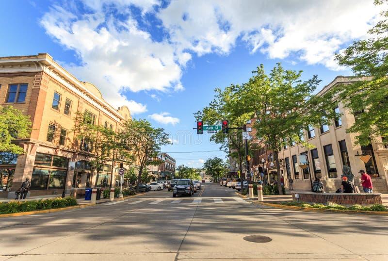 Γρήγορη πόλη στη νότια Ντακότα, ΗΠΑ στοκ εικόνες