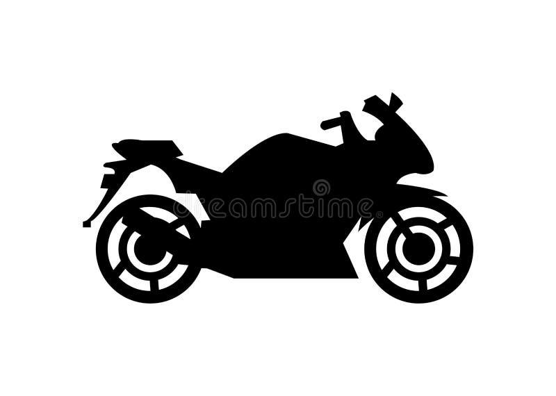 Γρήγορη σκιαγραφία μοτοσικλετών, που απομονώνεται στο λευκό ελεύθερη απεικόνιση δικαιώματος