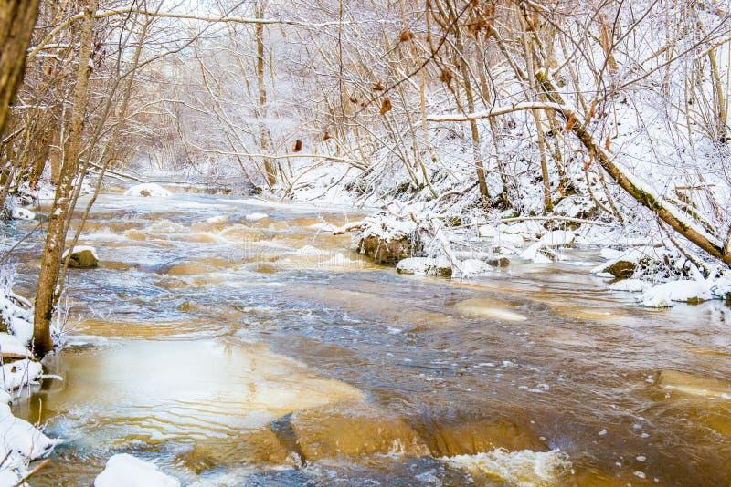 Γρήγορος χειμερινός ποταμός στοκ φωτογραφία με δικαίωμα ελεύθερης χρήσης
