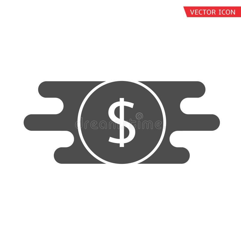 Γρήγορο εικονίδιο μεταφοράς χρημάτων απεικόνιση αποθεμάτων