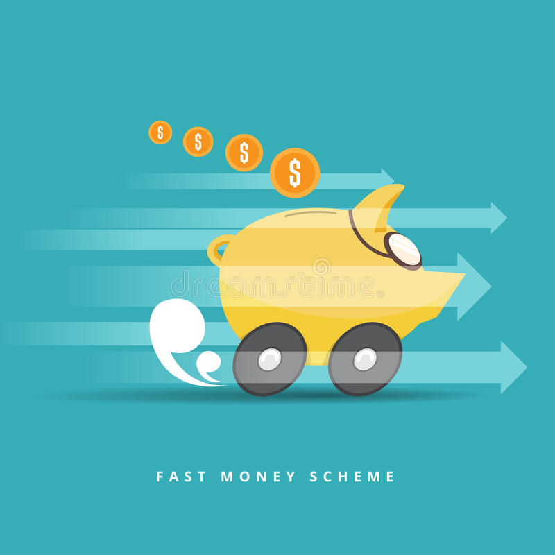 Γρήγορο σχέδιο χρημάτων διανυσματική απεικόνιση
