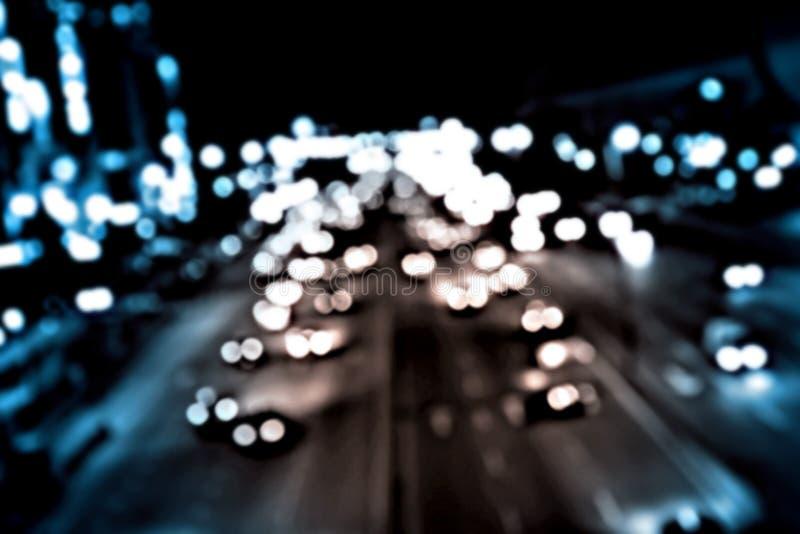 Γρήγορο υπόβαθρο ταξιδιού νύχτας - σύγχρονη εθνική οδός στοκ εικόνες με δικαίωμα ελεύθερης χρήσης