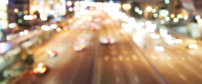 Γρήγορο υπόβαθρο ταξιδιού νύχτας - σύγχρονη εθνική οδός στοκ εικόνες