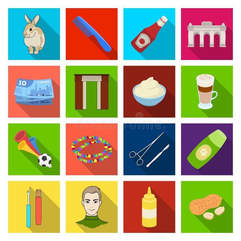 Γρήγορο φαγητό, επιχείρηση και άλλο εικονίδιο Ιστού στο επίπεδο ύφος επιδόρπιο, αγορές, εικονίδια medica στην καθορισμένη συλλογή ελεύθερη απεικόνιση δικαιώματος