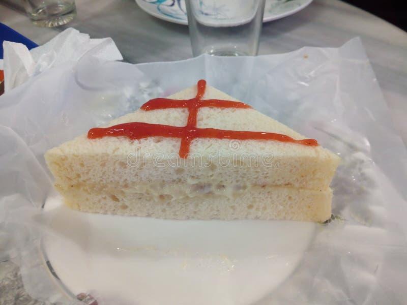 Γρήγορο φαγητό σάντουιτς στοκ εικόνα με δικαίωμα ελεύθερης χρήσης