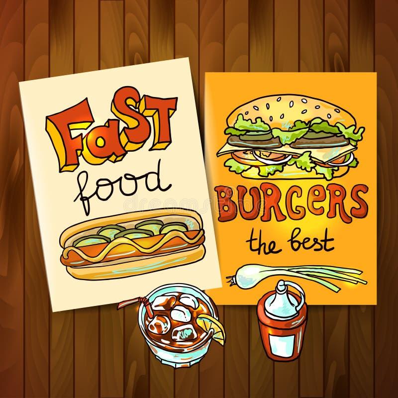 Γρήγορο φαγητό ελεύθερη απεικόνιση δικαιώματος