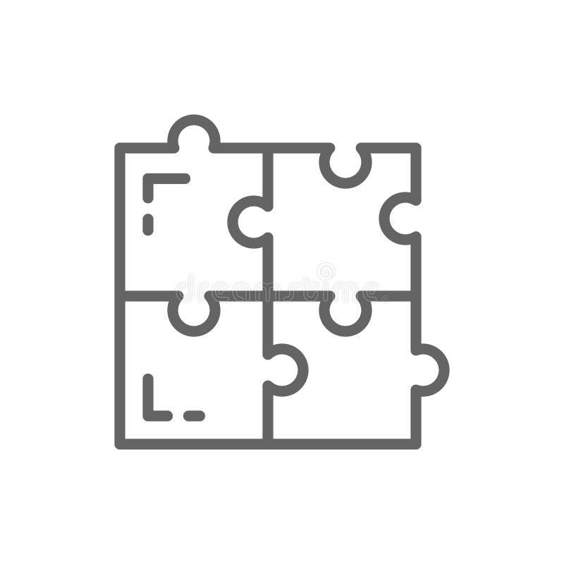 Γρίφος, απλές λύσεις, συμβατότητα, που λύνει το εικονίδιο γραμμών προβλήματος διανυσματική απεικόνιση