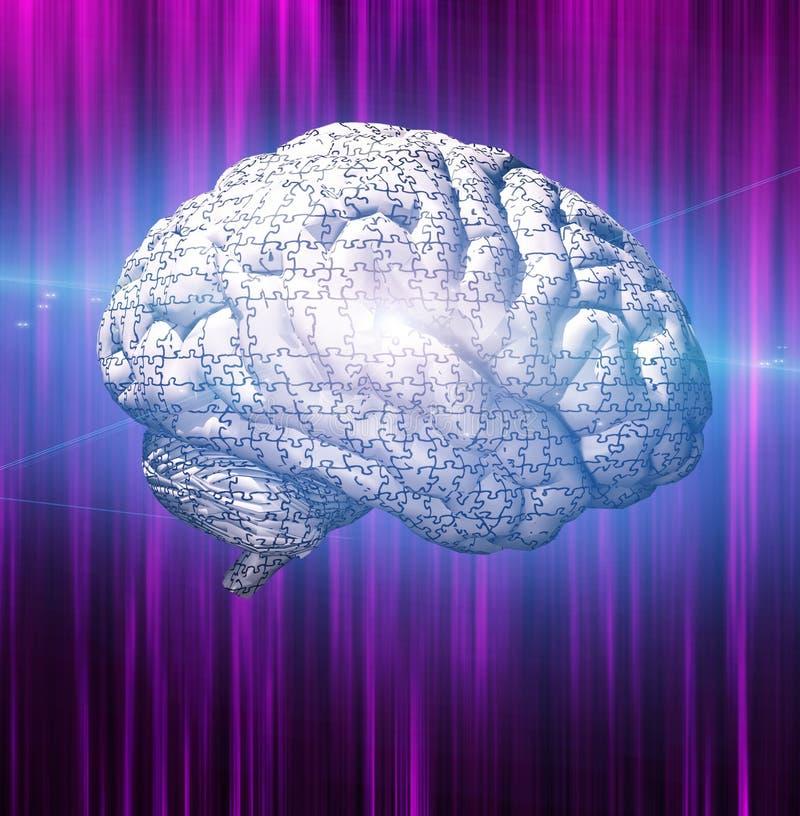 γρίφος εγκεφάλου διανυσματική απεικόνιση