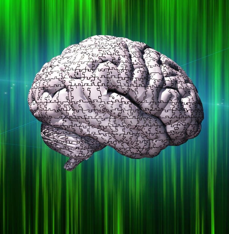 Γρίφος εγκεφάλου ελεύθερη απεικόνιση δικαιώματος